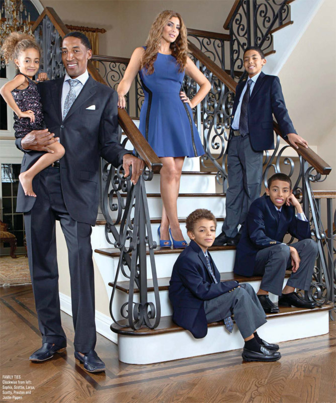 Larsa, Scottie Pippen & Family