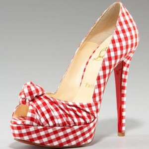 Louboutin Gingham Pump