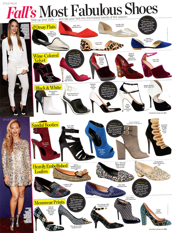 Fashion 2017 fall - Life Amp Style Fall S Most Fabulous Shoes Eric Himel
